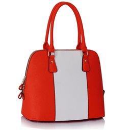 Dámská kabelka Ashley Stripes Oranžovo-bílá (Coral Růžová)