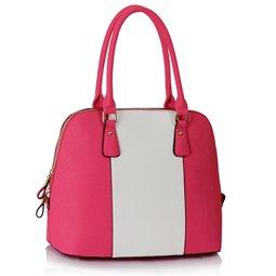 Dámská kabelka Ashley Stripes Růžovo-bílá