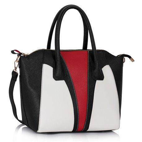 Dámská kabelka Ashley Insert Černo-bílá (Červená)