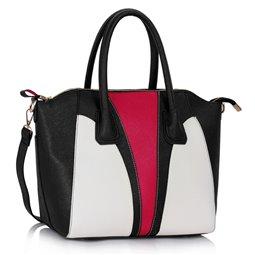 Dámská kabelka Ashley Insert Černo-bílá (Růžová)