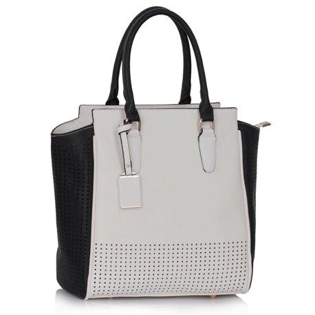 Dámská kabelka Ashley Perfor Černo-bílá