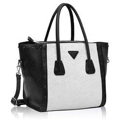 Dámská kabelka Ashley Triangle Crystal Černo-bílá