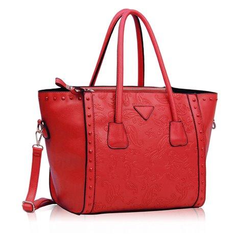Dámská kabelka Ashley Triangle Crystal Červená