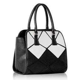 Dámská kabelka Ashley Avangard Černo-bílá