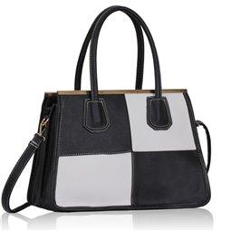 Dámská kabelka Ashley Ornament Line Černo-bílá