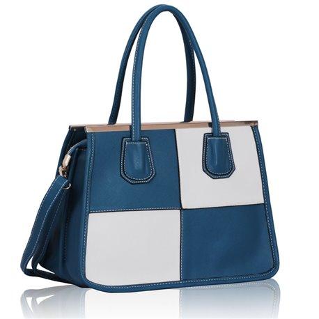 Dámská kabelka Ashley Ornament Line Modro-bílá (Teal)