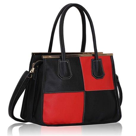 Dámská kabelka Ashley Ornament Line Černo-červená