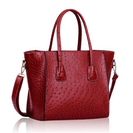 Dámská kabelka Ashley Breadth Ostrich Červená