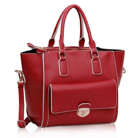 Dámská kabelka Ashley Piping Červená