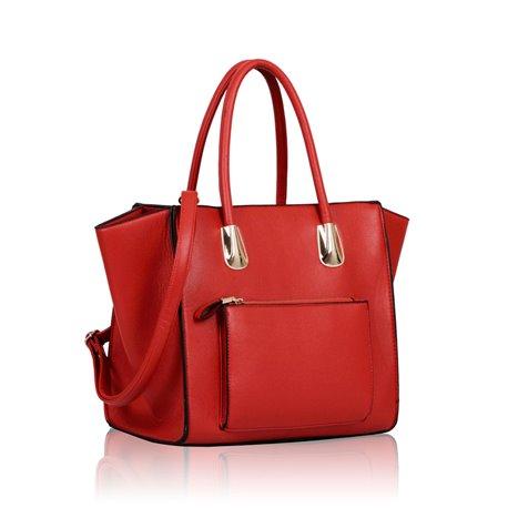 Dámská kabelka Ashley Pocket Zip Mat Červená
