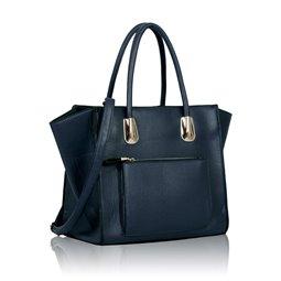 Dámská kabelka Ashley Pocket Zip Mat Navy (Modrá)