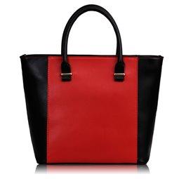 Dámská kabelka Ashley Shopper Černo-červená