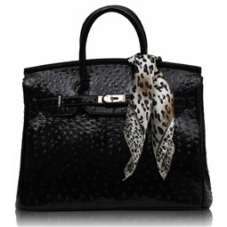 Dámská kabelka Ashley Luxus Ostrich Černá