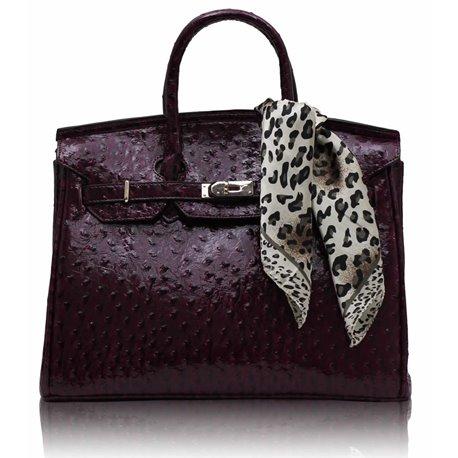 Dámská kabelka Ashley Luxus Ostrich Fialová