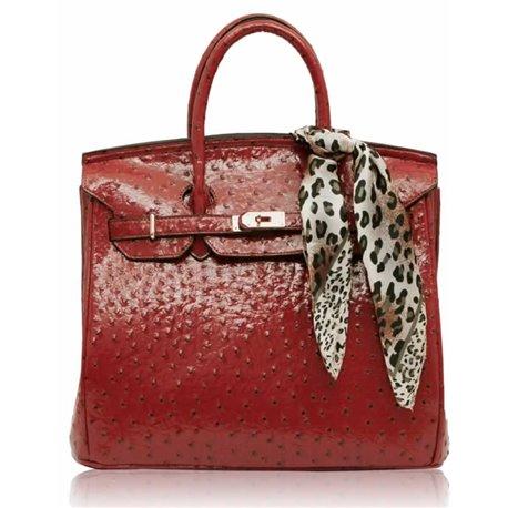Dámská kabelka Ashley Luxus Ostrich Růžová