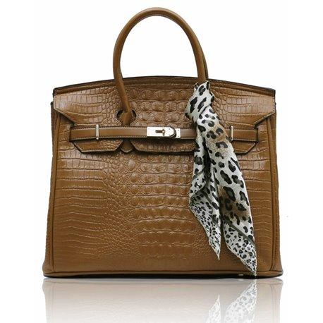 Dámská kabelka Ashley Luxus Snake Tan (Hnědá Béžová)