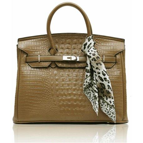 Dámská kabelka Ashley Luxus Snake Nude (Béžová Tělová)