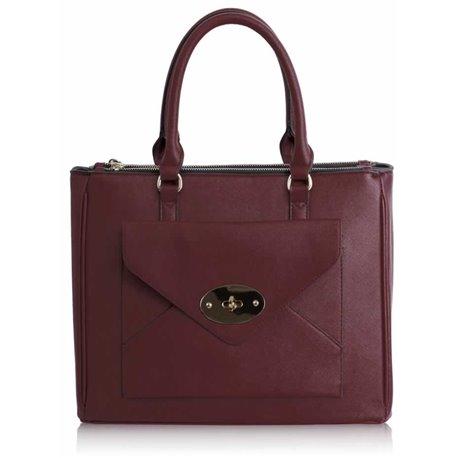 Dámská kabelka Ashley First Burgundy (Vínová Červená)