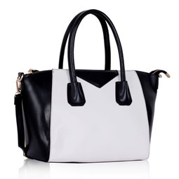 Dámská kabelka Ashley Glossy Černo-bílá