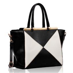Dámská kabelka Ashley Tryst Černo-bílá