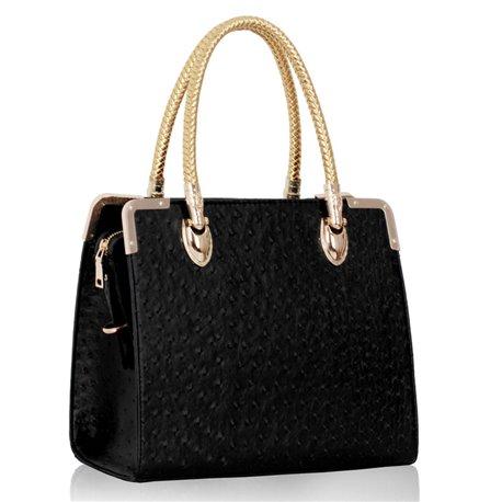 Dámská kabelka Ashley Dotie Ostrich Černá