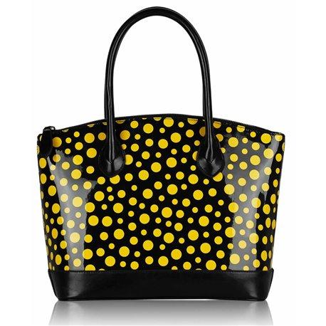 Dámská kabelka Ashley Rain Wave Žlutá (Černá)