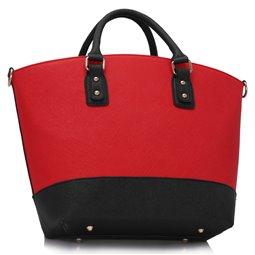 Dámská kabelka Ashley Fashion Tote Černo-červená