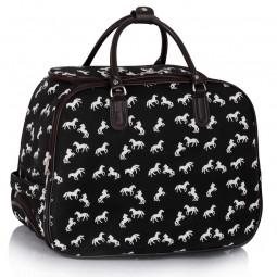 Cestovní taška s kolečky Ashley Horse Černá