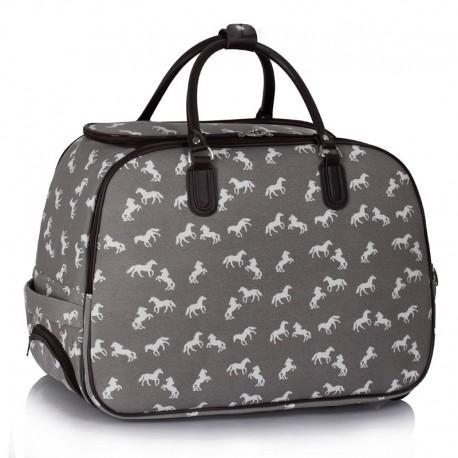 Cestovní taška s kolečky Ashley Horse Šedá