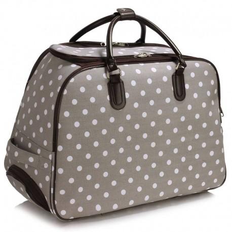 Cestovní zavazadlo s kolečky Ashley Puntík Šedá