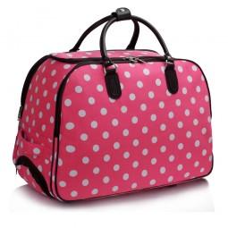Cestovní taška s kolečky Ashley Puntík Růžová