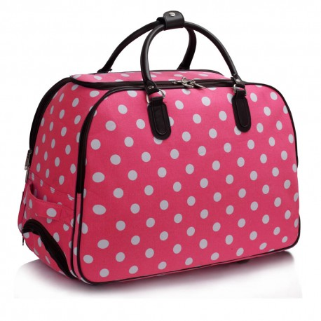 Cestovní zavazadlo s kolečky Ashley Puntík Růžová