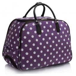 Cestovní taška s kolečky Ashley Puntík Fialová