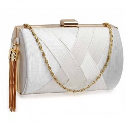 White Tassel Clutch