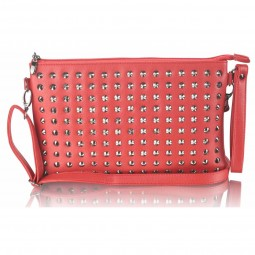 Red Purse With Stud Detail