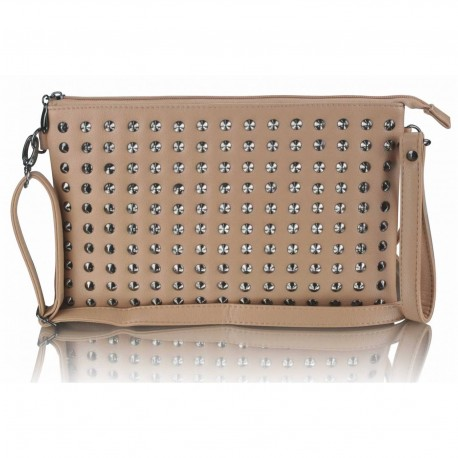 Nude Purse With Stud Detail