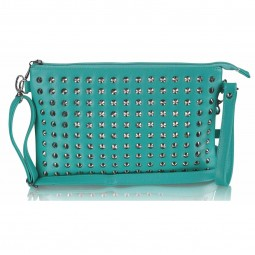Emerald Purse With Stud Detail
