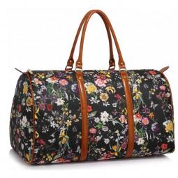 Cestovní taška Floral Weekend Černá
