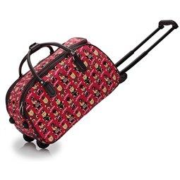 Cestovní taška s kolečky Ashley Bear Červená