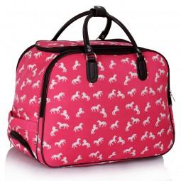 Cestovní taška s kolečky Ashley Horse Pink