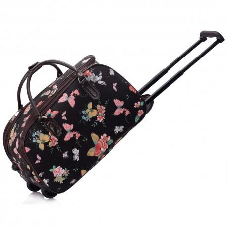 Cestovní taška s kolečky Ashley Butterfly Černá