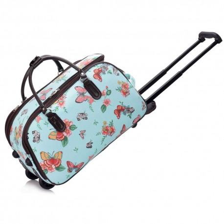 Cestovní taška s kolečky Ashley Butterfly Blue