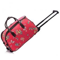 Cestovní taška s kolečky Ashley Butterfly Red