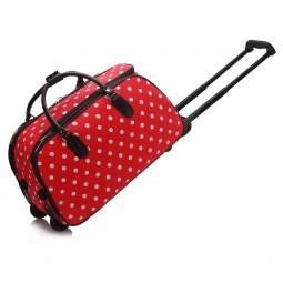 Cestovní taška s kolečky Ashley Puntík Červená