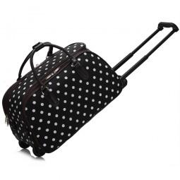 Cestovní taška s kolečky Ashley Puntík Černá