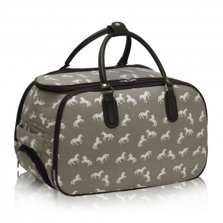 Cestovní taška s kolečky Ashley Horse Grey