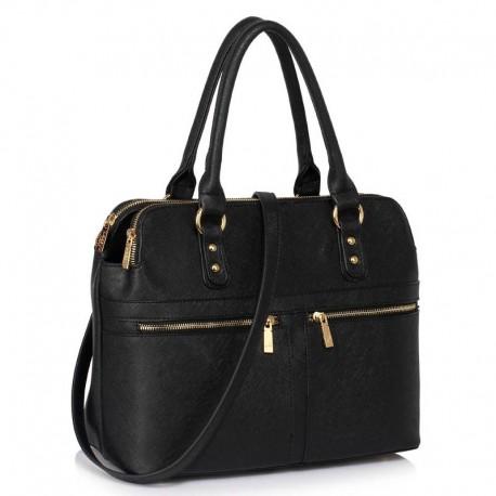 Dámská kabelka Black Zipper Tote