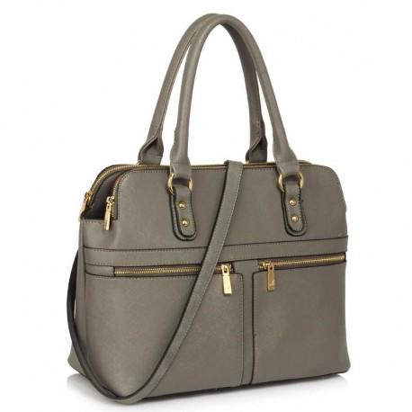 Dámská kabelka Grey Zipper Tote