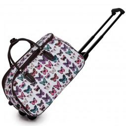 Cestovní taška s kolečky Ashley Butterfly Bílá