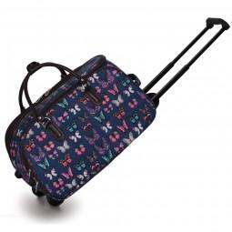Cestovní taška s kolečky Ashley Butterfly Navy